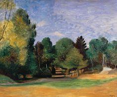 André Derain (Fr., 1880-1954), Paysage près de Barbizon, vers 1922, huile sur toile, 70,8 x 72,7 cm, Tate collection