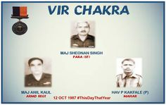 Disregarding their personal safety they displayed commendable initiative and courage in the face of enemy.Awarded #http://VirChakrapic.twitter.com/OTXG1PSFXV #IndianArmy #Army