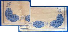 """Da revista """"Lavores e arte aplicada"""" nº 139 de 1956, um lençol com aplicações de renda e bordado.  manela"""