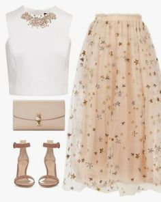 A fashion look from September 2016 featuring Ted Baker tops, Valentino skirts и Gianvito Rossi sandals. Browse and shop related looks. Maxi Outfits, Casual Fall Outfits, Classy Outfits, Stylish Outfits, Fashion Line, Look Fashion, Teen Fashion, Womens Fashion, Fashion Design