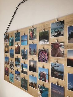 Photo Projects, Diy Craft Projects, Projects To Try, Diy Room Decor, Wall Decor, Decoration Photo, Bff Birthday Gift, Travel Wall, Wooden Diy