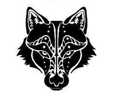 32 Best Wolf Head Tribal Tattoo Designs Images Tribal Wolf Tattoos