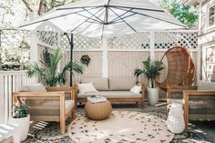 Utilize your backyard space to its full potential with these inspiring outdoor patio design ideas for your backyard, just in time for summer! Outdoor Patio Designs, Outdoor Spaces, Outdoor Decor, Outdoor Living, Patio Ideas, Outdoor Patios, Outdoor Kitchens, Outdoor Ottomans, Outdoor Patio Umbrellas