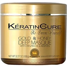 KERATIN CURE - Deep Hair Reparation Masque 1000 g / 32 Oz Gold and Honey with Argan Oil - Shea Butter Conditioning Moisturizing Hair Treatment ** Check out this great product. (This is an affiliate link and I receive a commission for the sales) Hair Care Routine, Hair Care Tips, Argan Oil Keratin, Argan Oil And Shea Butter, Dry Damaged Hair, Hair Hacks, Body Care, The Cure, Conditioner
