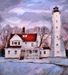 WINTER LIGHTHOUSE BY ARTIST UNKNOWN. Dynamic Auto Painter is a sophisticated set of digital brushes and controls allowing creation of paintings based on reference photos. With the right skill these digital paintings and those of traditional media are indistinguishable. Now scroll through Pinterest pins of high quality Dynamic Auto Painter artwork and see if you are not impressed with digital paintings. SEE MORE DIGITAL PAINTING AS ART NOW.... https://richard-neuman-artist.com/works