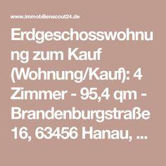 Erdgeschosswohnung zum Kauf (Wohnung/Kauf): 4 Zimmer - 95,4 qm - Brandenburgstraße 16, 63456 Hanau, Hanau bei ImmobilienScout24 (Scout-ID: 103570819)