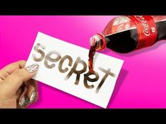 INVISIBLE INK MADE OUT OF COCA COLA ♥ DIY Secret Ink Marker - YouTube