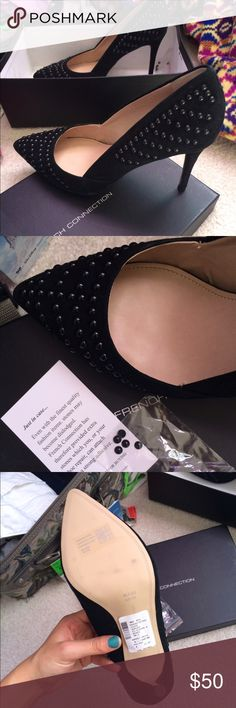 French collection black studded point toe heels Black French connection heels. Never worn new in box French Connection Shoes Heels
