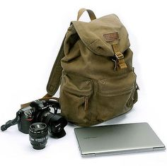 SLR DSLR Camera Backpacks Laptop Rucksacks Bag Canon Nikon Sony + Padded Insert