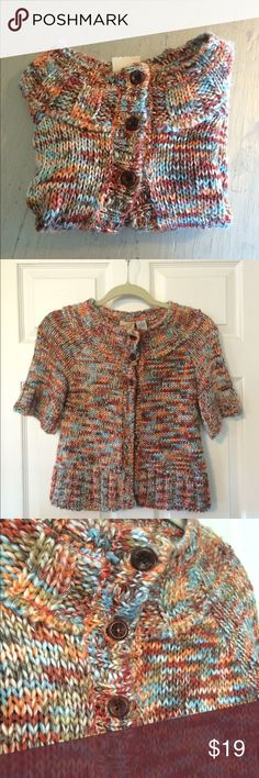 """NWT O'Neill Cardigan New with tags O'Neill multi colored cardigan. Sleeves measure 14"""" from collar to cuff. 3 front button closure. Measures 15"""" armpit to armpit and 20"""" shoulder to hem. In like new condition. O'Neill Sweaters Cardigans"""