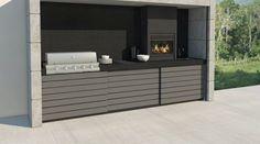 Barbacoas de obra   Chimeneas Pio Backyard Garden Design, Yard Design, Outdoor Barbeque, Barbecue, Build Outdoor Kitchen, Bbq Kitchen, Farmhouse Style, Outdoor Decor, Inspiration