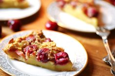 Clafoutis - a quick and easy way to enjoy cherries, or blueberries surrounded by a thick creamy filling.