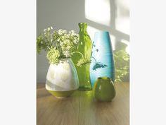 CARINE GREEN Ceramic Round green ceramic vase - HabitatUK
