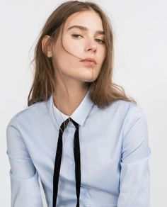 Image 2 of BASIC POPLIN SHIRT from Zara