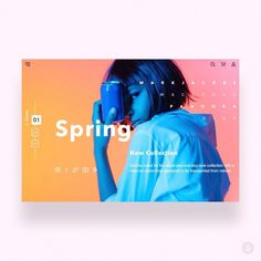 Spring shop by Julia —⠀ ✨ Daily Inspiration in your feed ✨⠀ —⠀  Get featured, tag your work with #designbot or follow along @design.bot #webdesign Website Design Inspiration, Website Design Layout, Design Blog, Ad Design, Graphic Design Inspiration, Layout Design, Design Trends, Daily Inspiration, Portfolio Webdesign