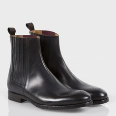 Paul Smith Shoes - Black Leather Haye Boots