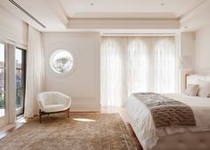 A recessed ceiling in your house provide an interesting opportunity for creative design. A recessed ceiling is a type of home ceiling design used to add elegance. Transitional Living Rooms, Transitional House, Transitional Lighting, Residential Interior Design, Luxury Interior, Plafond Design, Recessed Ceiling, Ceiling Fan, Bedroom Green