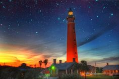 Ponce Inlet Lighthouse is the tallest lighthouse in Florida. It's a romantic spot to watch the sun set near Daytona Beach!