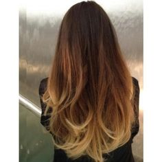 Ombre Hair, or Two Toned Hair! Portraits Of Elegance found on Polyvore