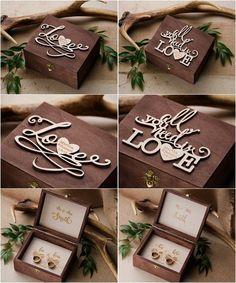 Rustic country wedding ring box #rusticwedding #countrywedding