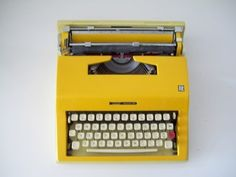 $200-500, OLIVETTI ESCORT 55 Montgomery Ward typewriter BRIGHT by MODERA
