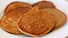 High Protein Pumpkin Pancakes  - delicious!  Made them for supper - I added more pumpkin than it says....