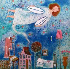 """Dream Fly"" 2007. 65х65cm. Oil on canvas"