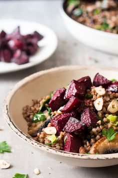 warm buckwheat beetroot salad