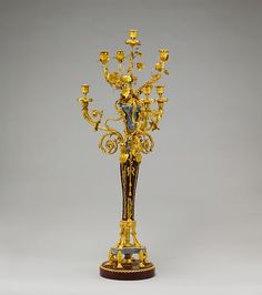 Pair of seven-light candelabra (candélabres or girandoles), ca. France, Gilt bronze, griotte marble, bardiglio marble Dimensions: H. Mobile Art, Chandelier Lighting, Chandeliers, Candlesticks, Metal Working, Art Decor, Candle Holders, Table Lamp, Wall Lights