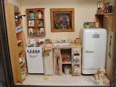 mini vintage looking kitchen