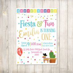 First Fiesta Birthday Invitation