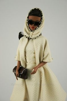 AA Debut in Bogue's Vogue 2 White and dark chocolate-beautiful, classy, timeless Chic Chic, Glamour, Barbie Vintage, Diva Dolls, Vogue, African American Dolls, Beautiful Barbie Dolls, Black Barbie, Barbie Collection