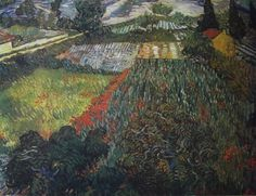 Poppy Fields Vincent van Gogh #impressionism
