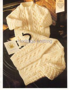 baby child aran cardigans Knitting pattern by Heritageknitting1