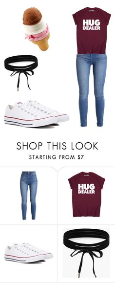 """""""First Day Of School  (Chill Style)"""" by mackenzie-strand ❤ liked on Polyvore featuring Converse and Boohoo"""