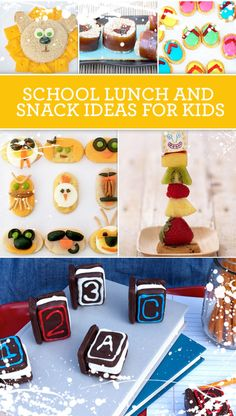 Fun School Lunch and Snack Ideas School Snacks For Kids, School Treats, School Fun, School Days, Kid Lunches, Lunch Snacks, School Lunches, Simple Snacks, Creative Snacks