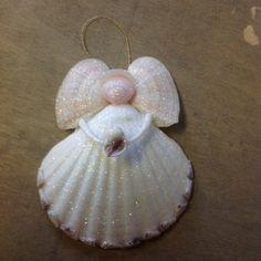 Seashell Christmas Ornaments, Seashell Ornaments, Nativity Ornaments, Coastal Christmas, Christmas Angels, Xmas, Christmas Decor, Seashell Projects, Seashell Crafts