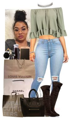 """""""You can't tell me I'm not cute ✨"""" by jemilaa ❤ liked on Polyvore featuring Daylesford, Louis Vuitton, Chanel, Sole Society, Urban Outfitters, CÉLINE, Boohoo and Assya London"""