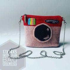 Mini Instagram crochet sling bag handmade