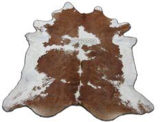 New Cowhide Brown & White  XXL cow hide skin rug by Cowhidesusa, $349.00