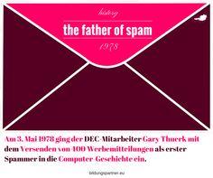 Erinnern Sie sich noch? Passt gerade da heute der 3. ist. #geschichte #spam #marketing