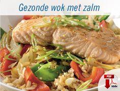 Gezonde wok met zalm - recept Lidl