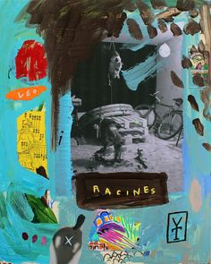 RACINES - Acrylic / collage / oil pastels on wood - 2016