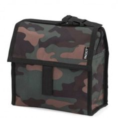 Small but mighty, this insulated lunch box in 'Camo' design is sized just right for kids' meals and adult snacks. Packit's freezable insulated lunch bag with a built-in eco-gel liner lets youtake safe, healthy meals everywhere without the need for ice packs. Keeps contents cool for up to 10 hours.PVC/lead-free, non-toxic & reusable. Folds compactly in the freezer for storage.