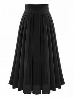 Shop Black High Waist Overlay Chiffon Skirt from choies.com .Free shipping Worldwide.$24.9