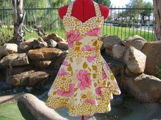 This apron is just too sweet. I love the fabrics and I love the cut! $37