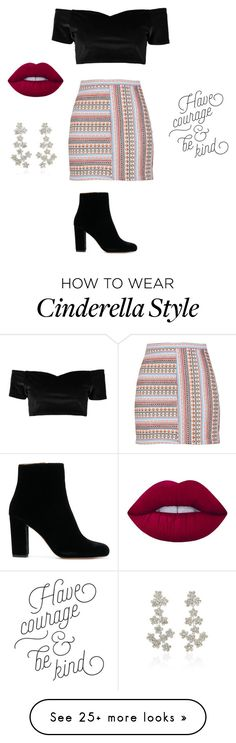"""Black is ma color"" by fouzv on Polyvore featuring Boohoo, Lime Crime and Jennifer Behr"