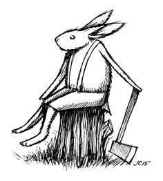 joncarling:Rabbit with axe