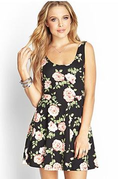 skater dresses and skirts are my new obsession! love this floral dress from Forever 21