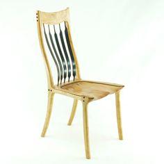 Cherry & Gabon Ebony Dining Chair - Built by Paul Lemiski - Canadian Woodworks